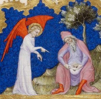 Painting: Circumcision of Abraham, from the Bible of Jean de Sy, ca. 1355-1357.