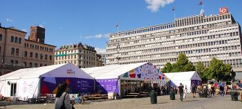 photo of Pride House tents at Youngstorget
