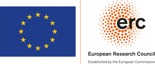EU flag and ERC symbol