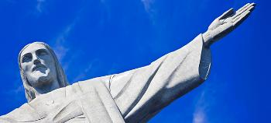 Foto av Kristusstatuen i Rio de Janeiro, Brasil.